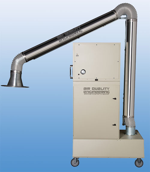 M66V media air filtration system with source capture arm