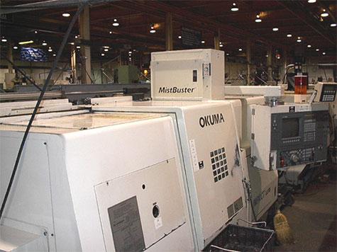 Mistbuster on Okuma CNC machine