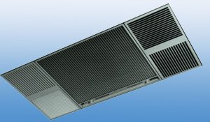 X-11Q commercial electrostatic air cleaner, designed for false ceiling installation