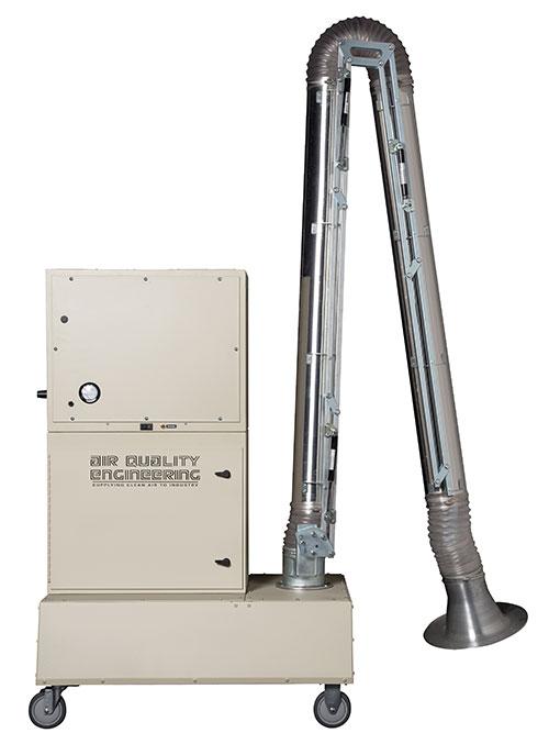 M32V air filtration unit arm at side