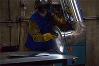welder with source capture hood