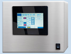 control panel touchscreen display