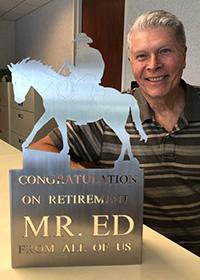 Mr. Ed retirement trophy