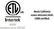 Intertek and CARB logos