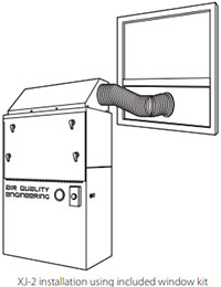 XJ-2 unit installed in window drawing